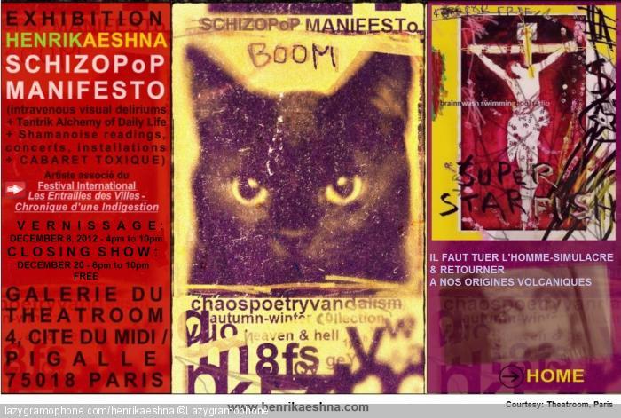 SchizoPoP Manifesto artshow, Paris, 2012