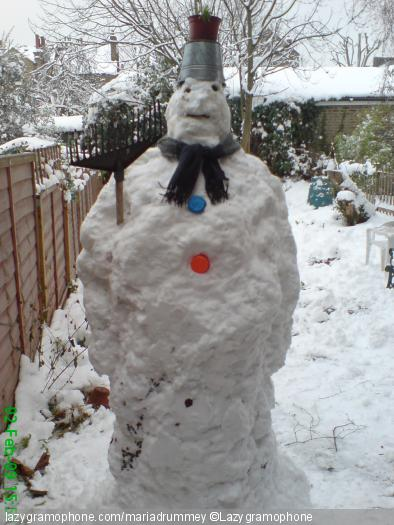 John Martyn in snowman form
