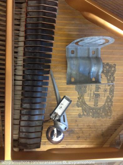 Prepared piano with hip replacement and satellite piece